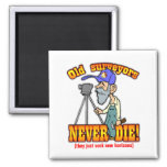 Surveyors 2 Inch Square Magnet