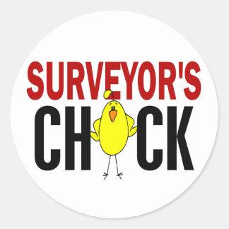 Surveyor's Chick Classic Round Sticker