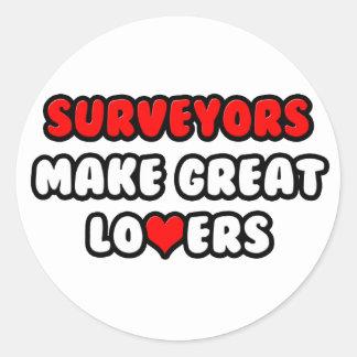 Surveyors Make Great Lovers Round Sticker