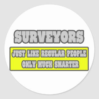 Surveyors Much Smarter Stickers