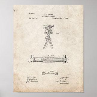 Surveyor's Transit Patent - Old Look Poster