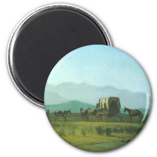 Surveyor's Wagon in the Rockies - Albert Bierstadt Magnet