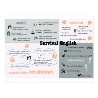 Survival English Postcard