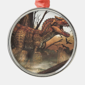 Survival for the fittest.jpg metal ornament