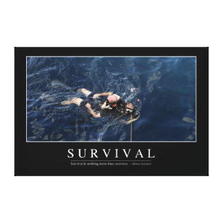 Survival: Inspirational Quote 1 Canvas Print