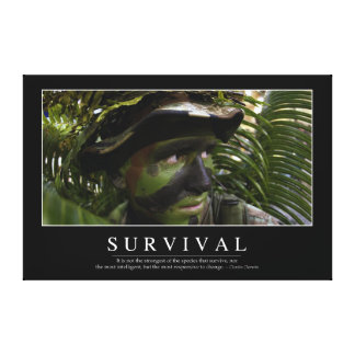 Survival: Inspirational Quote 2 Canvas Print