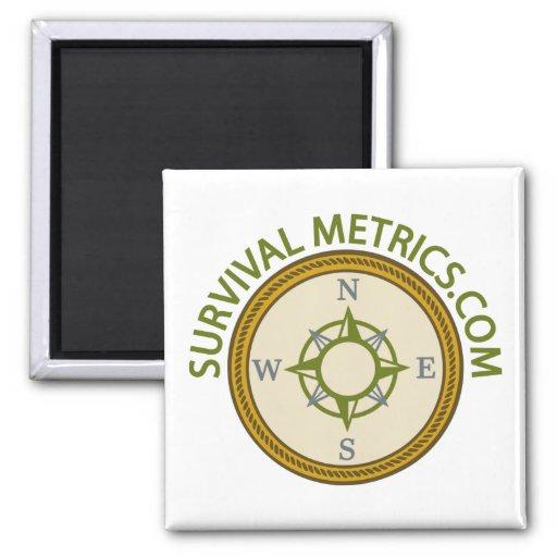 Survival Metrics.com Logo 2 Inch Square Magnet