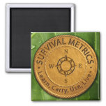 Survival Metrics.com Logo Refrigerator Magnets