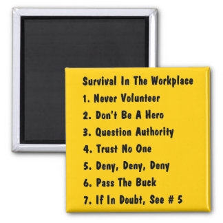 Survival Of The Fittest 2 Inch Square Magnet