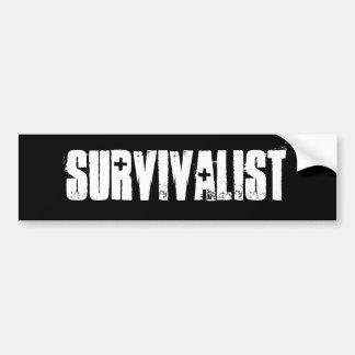 survivalist Bumper Sticker Car Bumper Sticker