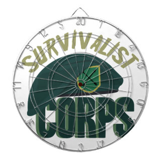 Survivalist Corps Dartboard With Darts