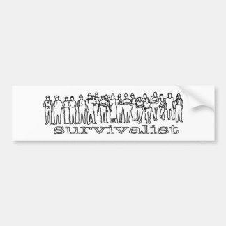 Survivalist Famlay bumper sticker (Rectangle) Car Bumper Sticker