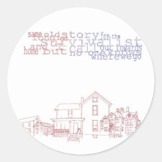 Survivalist Home sticker (Round)