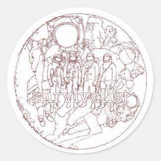 Survivalist Moon sticker