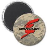Survivalist Prepper 2 Inch Round Magnet
