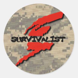 Survivalist Prepper Classic Round Sticker