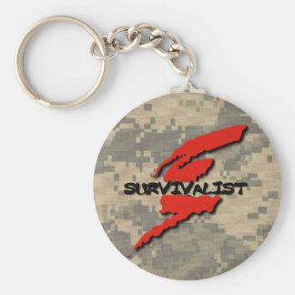 Survivalist Prepper Keychain