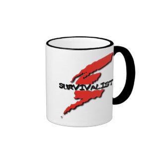 Survivalist Prepper Ringer Coffee Mug