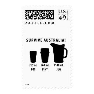 survive australia - beer postage