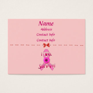 Survive Breast Cancer Business Card