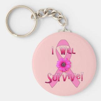 Survive Breast Cancer Keychain