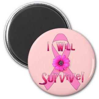 Survive Breast Cancer Refrigerator Magnet