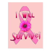 Survive Breast Cancer Postcard