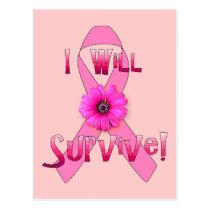 Survive Breast Cancer Postcard