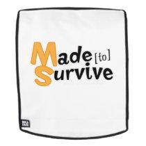 Survive Multiple Sclerosis Awarness Backpack