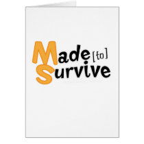 Survive Multiple Sclerosis Awarness Card