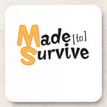 Survive Multiple Sclerosis Awarness Coaster
