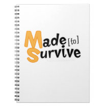 Survive Multiple Sclerosis Awarness Notebook