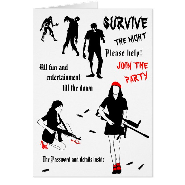 Survive The Night Halloween customizable