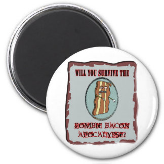 Survive the Zombie Bacon Apocalypse Refrigerator Magnets