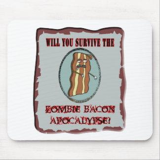 Survive the Zombie Bacon Apocalypse Mouse Pad