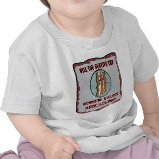 Survive the Zombie Bacon Apocalypse Tshirts