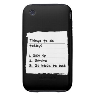 Survive Today Case iPhone 3 Tough Cover