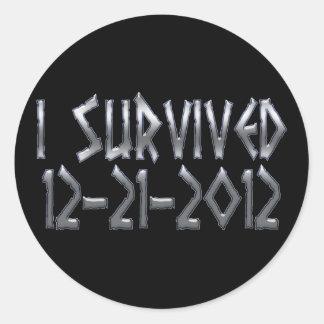 Survived 2012 sticker