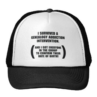 Survived Genealogy Addiction Intervention Trucker Hat
