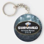 Survived Hurricane Michael 2018 Keychain