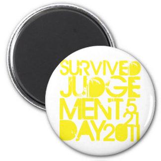 Survived Judgement Day 2011 2 Inch Round Magnet