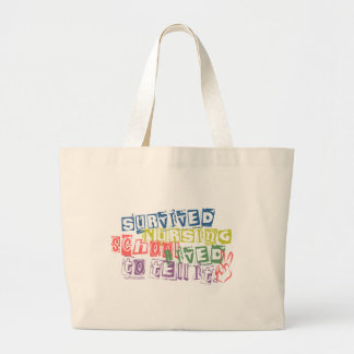 Survived Nursing School - Lived to Tell it Tote Bags