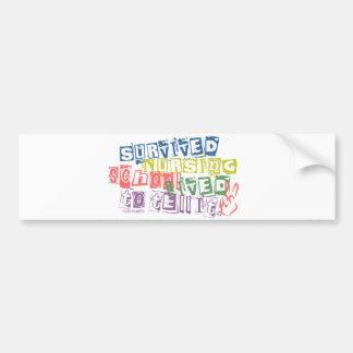 Survived Nursing School - Lived to Tell it Bumper Sticker