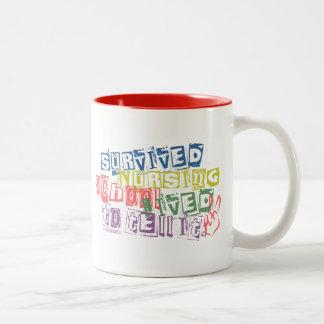 Survived Nursing School - Lived to Tell it Two-Tone Coffee Mug
