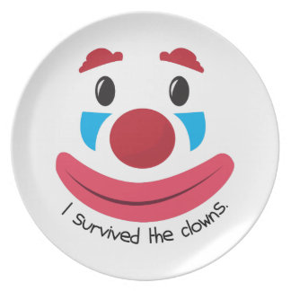 Survived the Clowns Plates