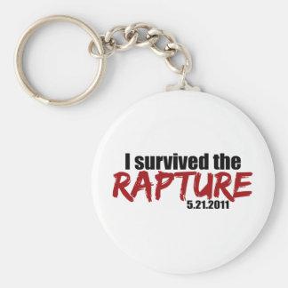Survived the Rapture Basic Round Button Keychain