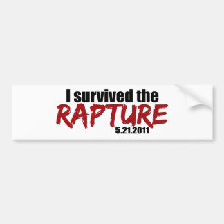 Survived the Rapture Bumper Sticker