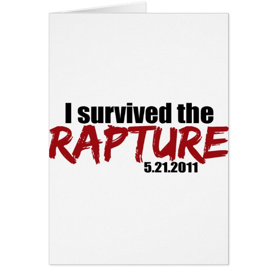 Survived the Rapture Card