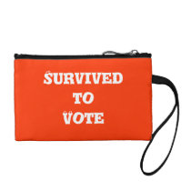Survived to Vote Coin Bag