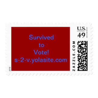 Survived to Vote Stamp